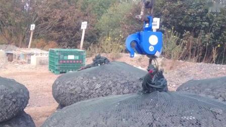 起重具有独特吊点的砂石袋 | 智能吊装解决方案 | elebia