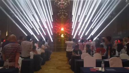 广西 南宁市 维也纳酒店宴会厅 骁龙灯光秀
