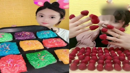 小姐姐直播吃:彩色火鸡面、草莓巧克力,一口下去超过瘾,向往的生活
