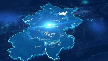 北京市地图位置锁定区位 科技区位全息电子沙盘 怎么制作基建园区项目规划设计汇报片