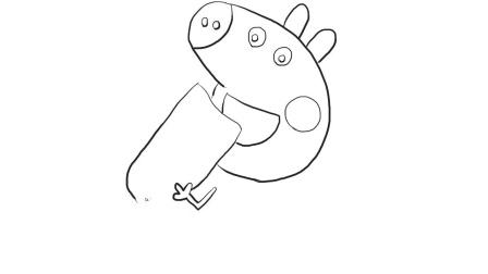 爱吃面包的小猪佩奇儿童卡通简笔画.mp4
