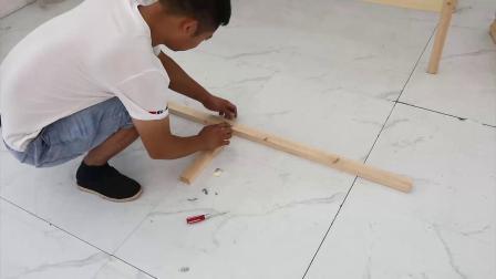 实木床组装视