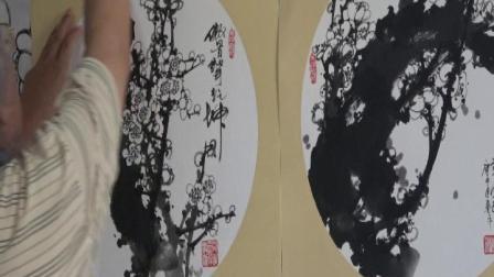国画艺术大师周明智谈梅花教学
