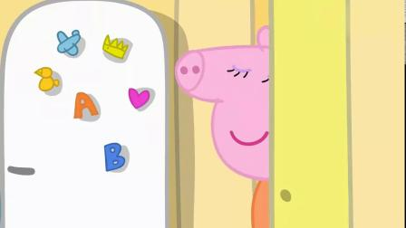 佩奇给猪妈妈生日蛋糕插蜡烛,猪爸爸告诉她年龄,好老的妈妈啊!