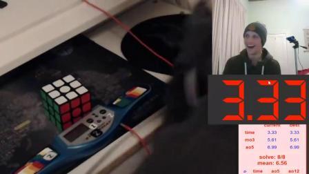 Feliks Zemdegs  Rubik's cube solved in 3.33 secon