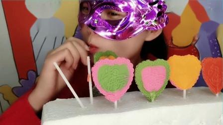 """闺蜜恶作剧:DIY创意""""爱心生日快乐棒棒巧克力"""",蕾丝边小巧可爱,薄脆香甜"""