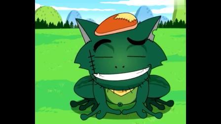 喜羊羊与灰太狼灰太狼发明了一个青蛙药水,灰太狼变成了蝌蚪.