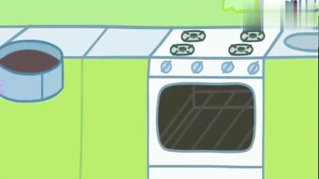 小猪佩奇:猪爸爸去上班,佩奇帮助妈妈给爸爸做蛋糕!