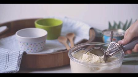 自制凤梨冰淇淋 酸酸甜甜就是你