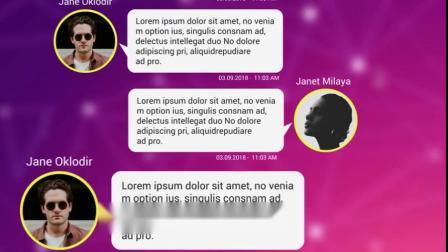 PR模板:8组微信短信聊天对话框消息气泡