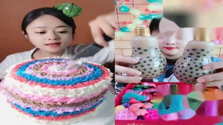 小姐姐试吃:彩虹蛋糕、灯泡奶茶,各种口味任选,是我向往的生活