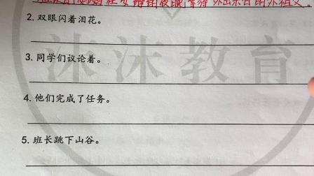 四年级语文句子扩句