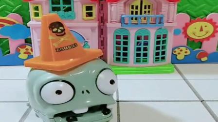 小猪佩奇玩具:小豌豆找到笼子,佩奇也找到自己的家,乔治不小心把僵尸认成朋友.mp4
