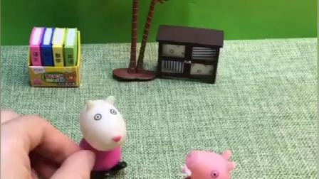 小羊苏茜和佩奇闹别扭了,乔治来帮忙和解,一会他们就和好了