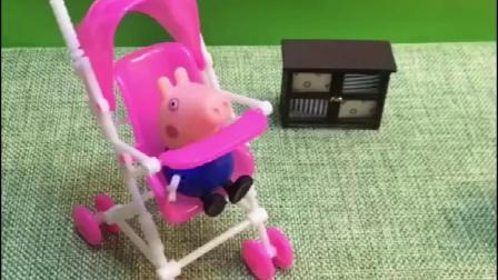 猪妈妈又生了个猪宝宝,学会叫爸爸了,要爸爸带着出去玩