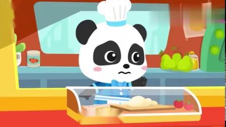 宝宝巴士:奇奇变身厨师,美味披萨摊有厉害的小厨师和美味的披萨