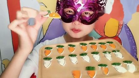 """闺蜜恶作剧:DIY手工创意""""萝卜巧克力"""",多种颜色不同口味,香甜脆爽超赞"""