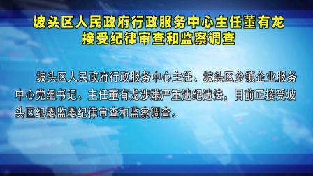 坡头区人民行政服务中心主任董有龙接受和监察