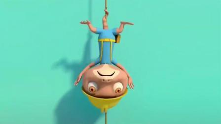 宝宝巴士:壁虎先生攀岩,一粗心得到了下来,结果把尾巴摔断了