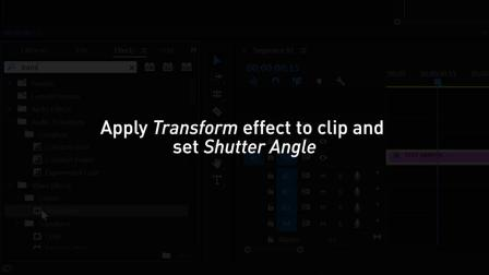 在Adobe Premiere Pro CC中为对象添加运动模糊效果|NVIDIA Studio片段