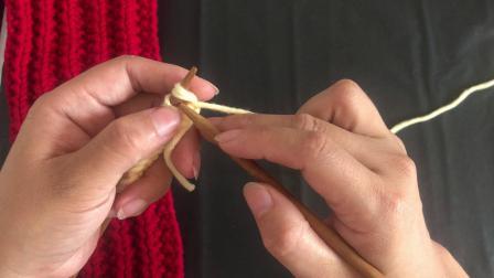 千寻毛线:相思扣围巾编织方法教程新手入门起针 结尾