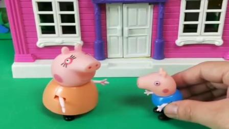 小猪佩奇玩具:乔治想吃鸡翅面,妈妈回家给乔治做有营养的面条,得到乔治的夸奖.mp4