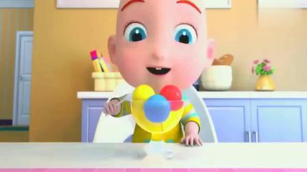 超级宝贝:美味的冰淇淋,各种颜色的,我最喜欢冰淇淋!