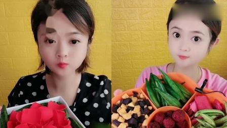 小可爱吃播:玫瑰花瓣巧克力,一口一口超过瘾,是我向往的生活