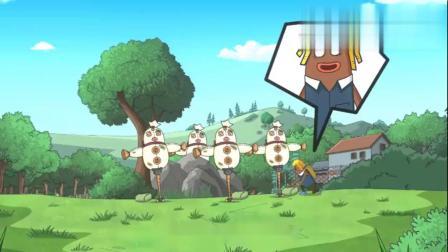 香肠派对吃鸡大作战:吃鸡小队玩起爆炸弓,看起来好爽!