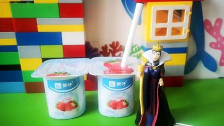 白雪喝完牛奶沉睡过去,王子会救白雪吗?