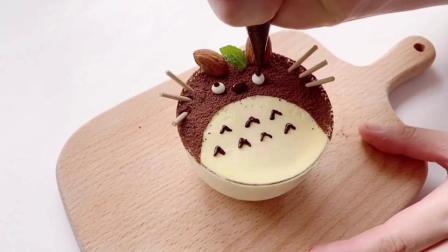 糖玩意儿卡通龙猫慕斯杯蛋糕烘焙制作