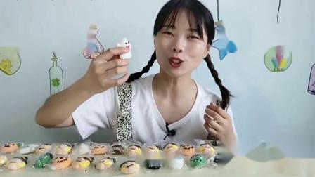 """美食拆箱""""万圣节系列糖果"""",南瓜灯幽灵趣味造型,香甜绵软好吃"""