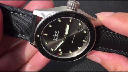ZF Factory新款宝PO五十噚43mm深灰色表盘陶瓷旋转外圈夜光刻度明星李健同款复KE腕表调节方法值得入手的复KE腕表【嘀嗒时刻】