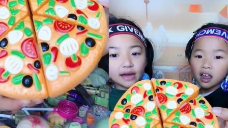 小姐姐直播吃:彩色面包,大口吃超满足