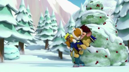 汪汪队立大功:雪山出现奇怪脚印,很是巨大,但到是雪怪?
