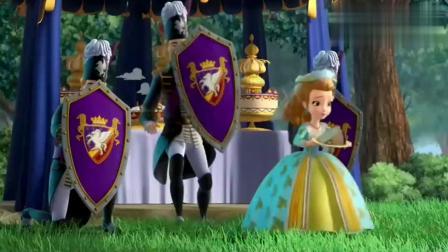 小公主苏菲亚:王子用一块蛋糕引诱会飞的大章鱼,哈哈,上当了!