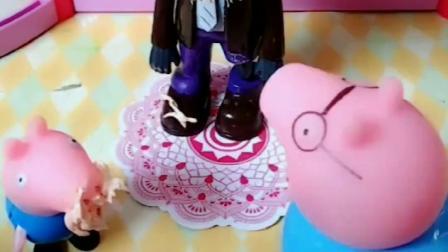 乔治吃到了奶油蛋糕,佩奇也吃到了奶油蛋糕,猪爸爸怎么吃不到呢