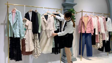 杭州四季青女装澳莉丝女装折扣批发走份 广州尾货批发市场