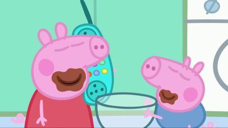小猪佩奇佩奇真可爱,猪爸的蛋糕插满蜡烛,还说他年纪大了.