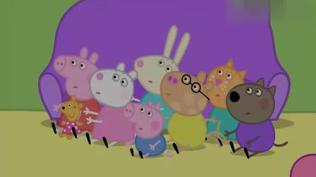 小猪佩奇:猪爸爸成功的表演了一个最受大家喜欢的魔术!生日蛋糕!