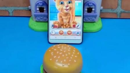 小猫不爱吃汉堡,也不喝旺仔牛奶,他到底想吃什么呢?