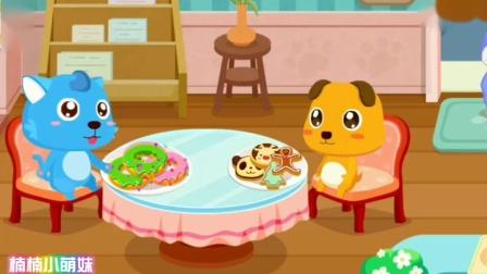 奇妙咖啡餐厅奇奇店长制作甜甜圈和饼干宝宝巴士游戏