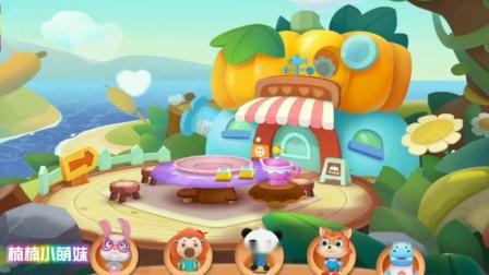 奇妙蛋糕店妙妙制作美味的彩虹蛋糕,分享小客人