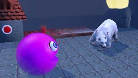 吃豆作战:吃豆人品尝苹果,被大熊猫追着跑