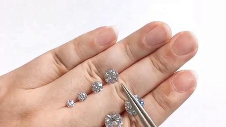一克拉至五克拉钻石有多大尺寸,各尺寸大小裸钻对比,文诚珠宝