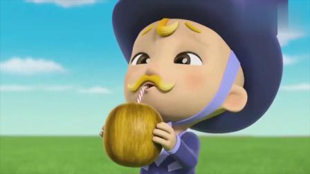 小克发现韩丁那市长变成了宝宝,没有椰子喝就开始哭!