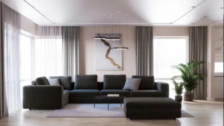 当下流行的现代简约风格设计,客厅的装修大气不失品质