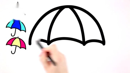 儿童简笔画一起来画各种漂亮的彩色雨伞