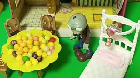 家里就猪妈妈一个人在家,僵尸就来了,小猪佩奇真聪明啊,好开心