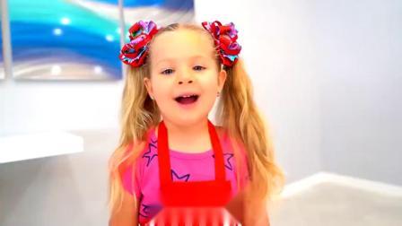 萌娃小可爱网购了一个迷你小厨房,小家伙最近在钻研美食,萌娃:还是让弟弟来吧